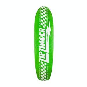 """Krooked Zip Zinger 7.5"""" Skateboard Deck - Green"""
