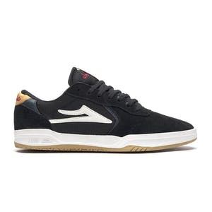 Lakai Atlantic Skate Shoe - Black/Yellow Suede