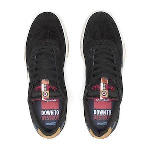 Lakai Atlantic Skate Shoe - Black/Yellow Suede