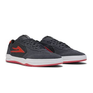 Lakai Atlantic Skate Shoe - Charcoal Suede