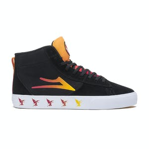 Lakai x Black Sabbath Newport Hi Skate Shoe - Black/Gradient Suede