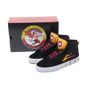 Lakai x Black Sabbath Newport Hi Skate Shoe - Black/Gradient Suede