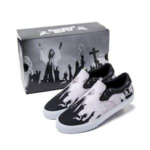 Lakai x Black Sabbath Owen VLK Skate Shoe - Black/White Canvas