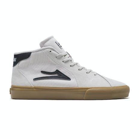 Lakai Flaco 2 Mid Skate Shoe - White/Gum