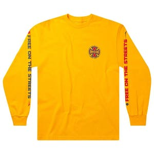 Lakai x Independent Long Sleeve T-Shirt - Gold