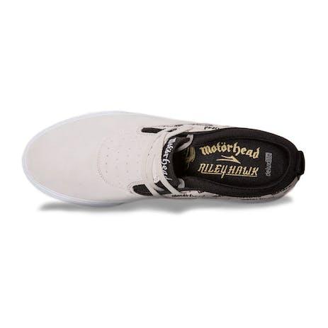 Lakai x Motorhead Riley Hawk 2 Skate Shoe - White/Black