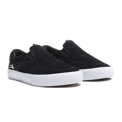 Lakai Owen Kids Skate Shoe - Black Suede