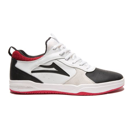 Lakai Proto Tony Hawk Skate Shoe - White / Black Suede