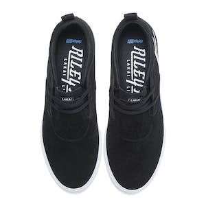 Lakai Riley Hawk 2 Skate Shoe - Black/White Suede