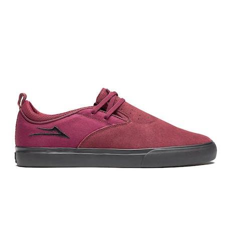 Lakai Riley Hawk 2 Skate Shoe - Burgundy/Black Suede