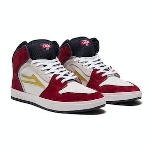 Lakai Telford Skate Shoe - Navy/Red