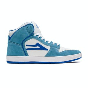 Lakai Telford Skate Shoe - White/Light Blue