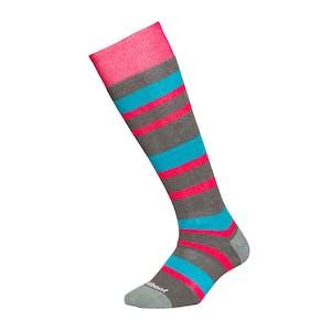 Le Bent Alpha Women's Snowboard Socks - Stripes
