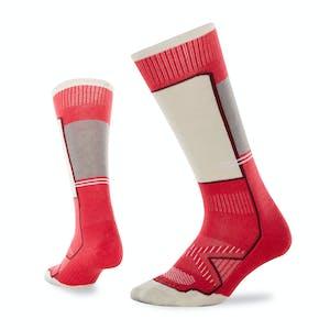 Le Bent Little Feet Kids' Snowboard Socks - Azalea