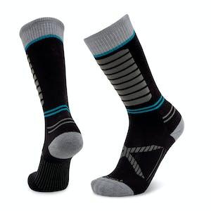 Le Bent Little Feet Kids' Snowboard Socks - Black