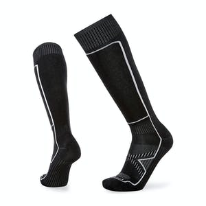 Le Bent Snow Light Snowboard Socks - Black/White