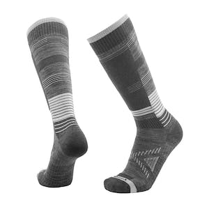 Le Bent Snow Light Snowboard Socks - Grey / Tofu