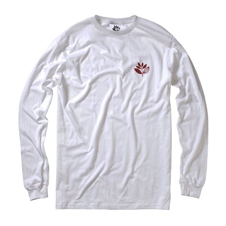 Magenta Classic Plant Long Sleeve T-Shirt - White