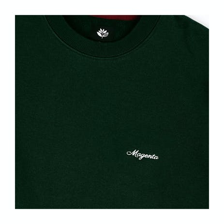 Magenta Cursive Crewneck - Green