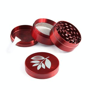 Magenta Metal Herb Grinder - Red