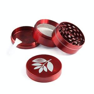 Magenta Metal Herb Grinder - Red