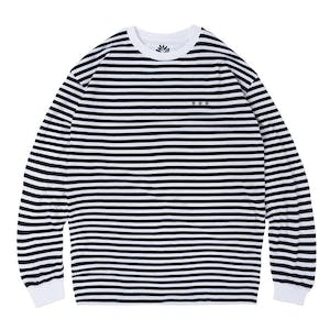 Magenta Mariniere Long Sleeve T-Shirt - Dark Navy/White