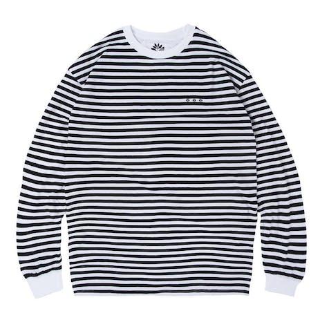 Magenta Mariniere Long Sleeve T-Shirt - Black/White