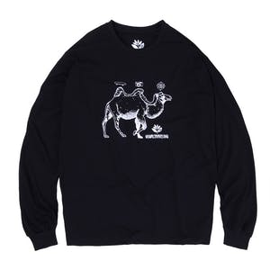 Magenta Camel Long Sleeve T-Shirt - Black