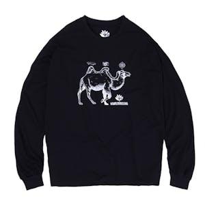 Magenta Camel Long Sleeve T-Shirt - Black
