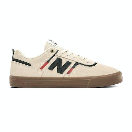 New Balance Foy NM306 Skate Shoe - Cream/Dark Green