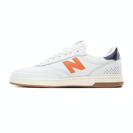 New Balance NM440 Skate Shoe - White/Orange