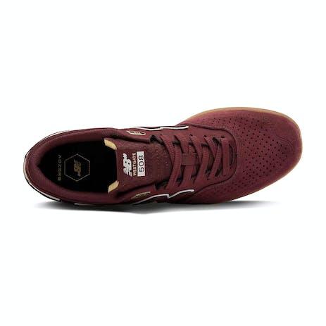 New Balance Westgate NM508 Skate Shoe - Burgundy/White