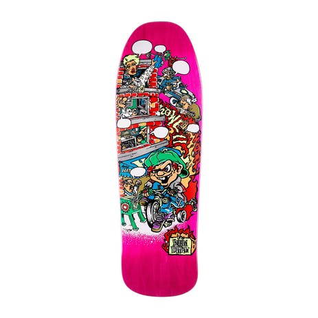 "New Deal Howell Tricycle Kid 9.62"" Skateboard Deck - Pink"