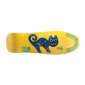 "New Deal Templeton Cat 9.75"" Skateboard Deck - Yellow"