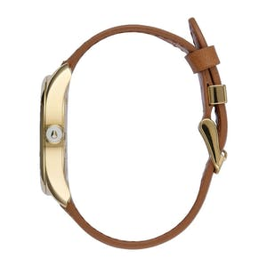 Nixon Bullet Leather Watch - Gold/Saddle