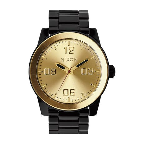 Nixon Corporal SS Watch - Black/Gold