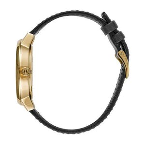 Nixon Kensington Leather Watch - Gold/White/Black