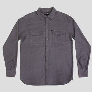 PASS~PORT Late Workers Flannelette Shirt - Grey