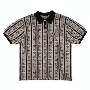 Pass~Port Tilde Knitted Polo Shirt - Grey