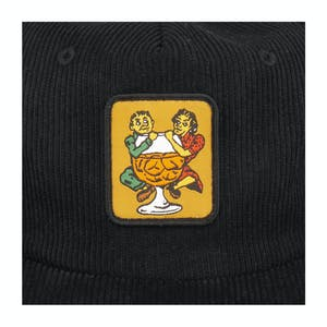 Pass~Port With a Friend 6-Panel Cord Hat - Black