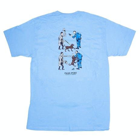Pass~Port Friendly K9 T-Shirt - Carolina Blue