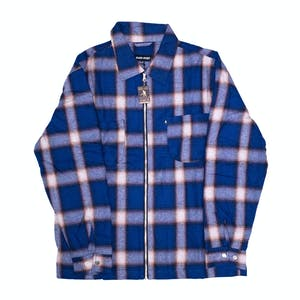 Pass~Port Quilted Zip Flannel Jacket - Navy