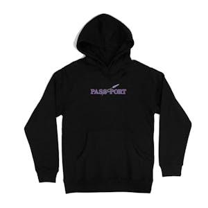 Pass~Port Lavender Hoodie - Black