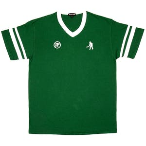 Pass~Port Workers Stripes Jersey - Dark Green / White