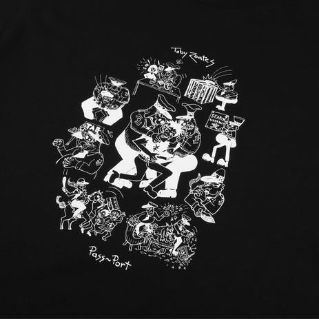 Pass~Port x Toby Zoates Coppers T-Shirt - Black