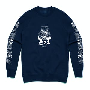Pass~Port x Toby Zoates Coppers Crewneck - Classic Navy