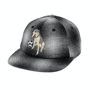 Pass~Port Bobby Flannel 6-Panel Hat - Black