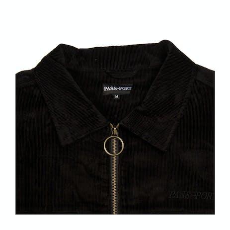 Pass~Port Cord Zip Jacket - Black