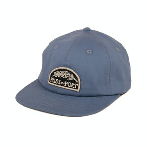 Pass~Port Quill Patch 6-Panel Hat - Steel Blue