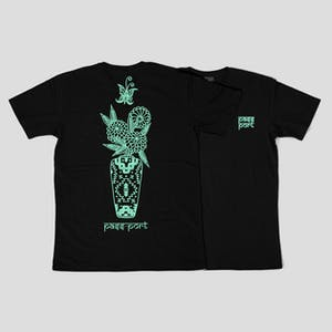 PASS~PORT Likely Floral T-Shirt — Black